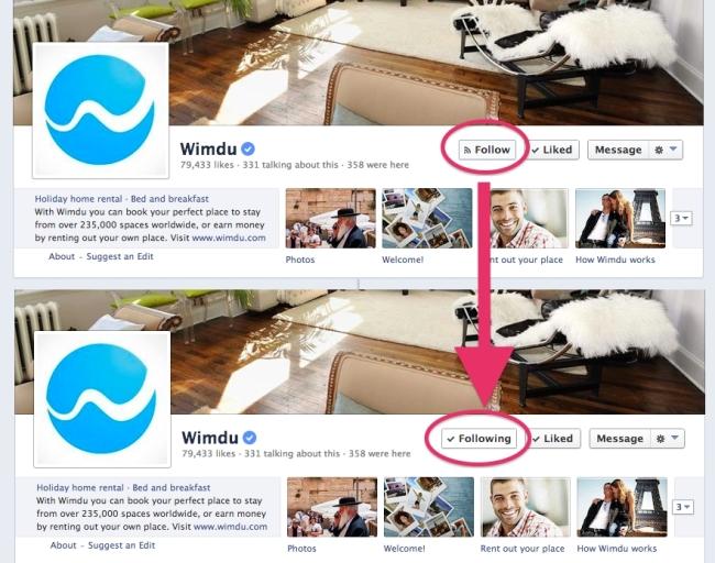 Botão Seguir no Facebook