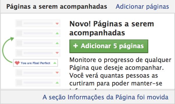 Facebook Acompanhar Páginas