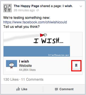 Facebook salvar conteúdo
