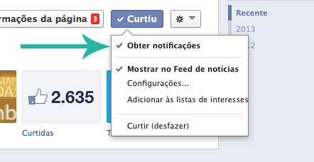 Obter Notificações Facebook