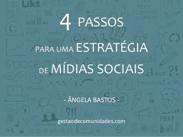 4 Passos para uma Estratégia de Mídias Sociais