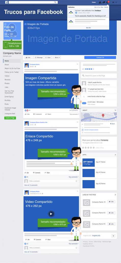 Conhecido Dimensões para Facebook 2017 AN82