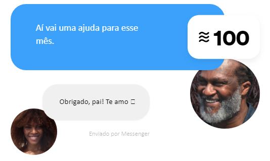Envio de dinheiro através do Messenger